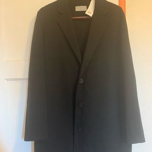 Vince Black Overcoat New w Tags Size Small Men's